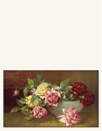 Bowl Of Roses Print (Unframed)