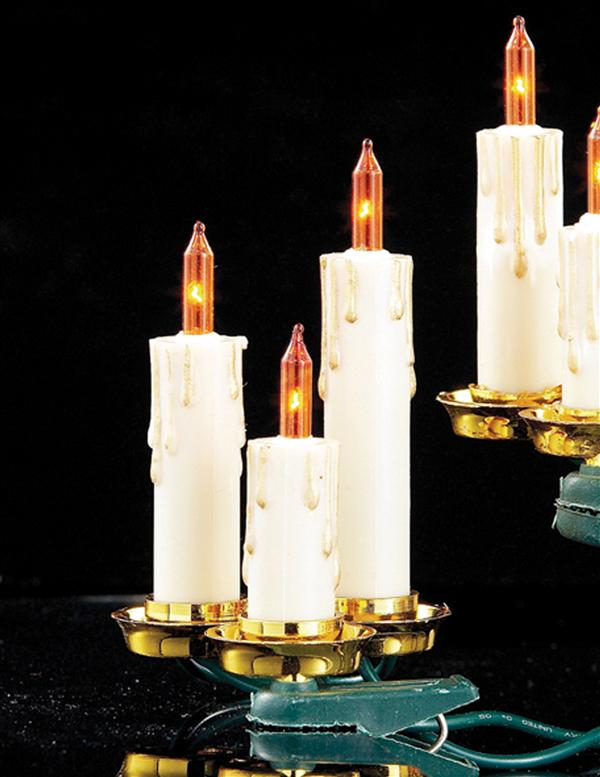 String Of Candle Lights For Christmas Tree : OLD WORLD CANDLE GARLAND - Candle String Lights, Christmas Tree Candles