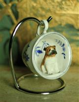 Favorite Dog Breed Teacup Ornament (Blue)