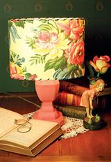 Peach Wood Lamp Base