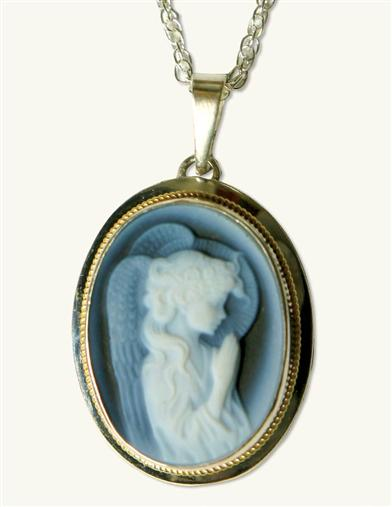 Angel Cameo Pendant (Silver)
