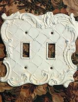 Ornate Double Switch Plate