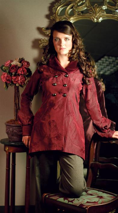 Embroidered Ruby Jacket