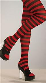 Red And Black Striped Stockings