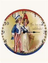 Uncle Sam, Jr. & Little Miss Liberty Clock
