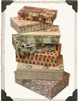 Vintage Holiday Giftboxes (Set Of 7)