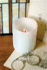 Pair Of Real Wax Battery Candles