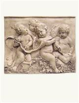 Groupo Putti Wall Plaque