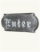 Gothic Enter Plaque