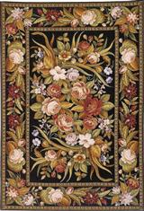 Rusty Roses Rug 6 X 9'