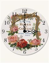 Second-hand Rose Clock