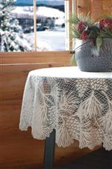 Pinecone Lace Tablecloth