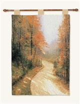 Thomas Kinkade Autumn Lane Tapestry