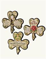 Inspirational Clover Wood Plaques (Set Of 3)
