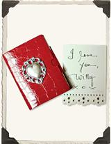 Lace Sticky Notes (Red Heart Case)