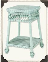 Lucy Vincent Wicker Table