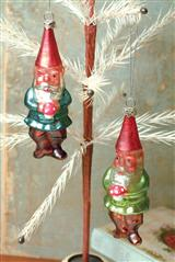 Gnome Brothers Mercury Glass Ornaments