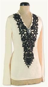 Gothic Lace Collar Tee