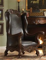 Great Grandmother's Croc Wing Leather Chair