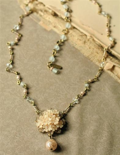 Colleen Toland Cream Of Roses Necklace