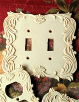 English Tudor Estate Double Switch Plate