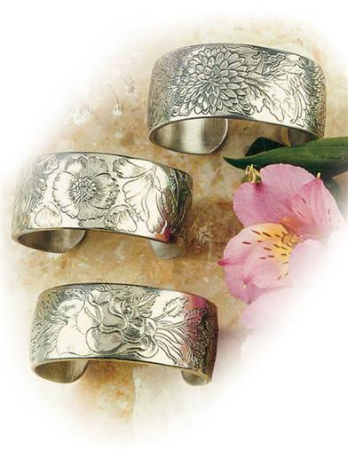 Flower Of The Month Pewter Bracelet