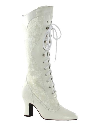 White Lace High Tops
