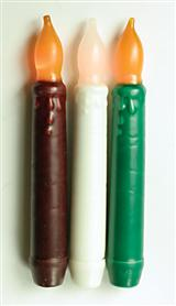 Real Wax Safety Tapers (Ivory - Pair)