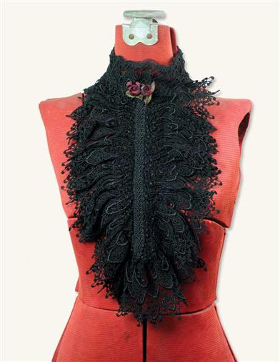 Venetian Lace Collar (Black)