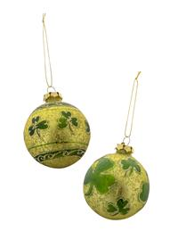 O' Reilly's Orb Shamrock Ornaments (Pair)