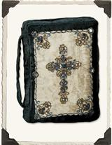 Beaded Velvet & Silk Bible Cover (Large)