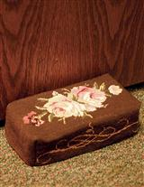 Embroidered Brick Doorstop Cover