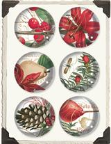 Crystal Decoupage Magnets