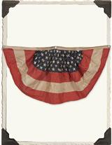 Vintage American Flag Tea Stained Bunting