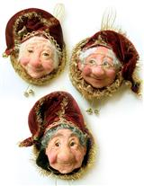 Jacqueline Kent's Elderly Elves (Set Of 3)