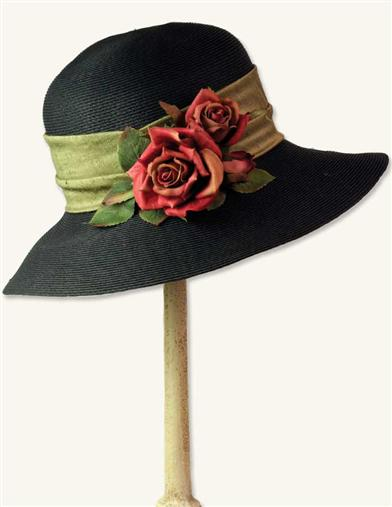 Midnight Roses Hat