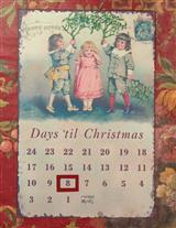 Countdown To Christmas Tin Sign