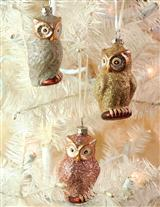 Gilda, Gertie, And Gussie Owl Ornaments