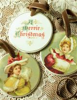 Young Misses & Muffs Porcelain Disc Ornaments (Pr)