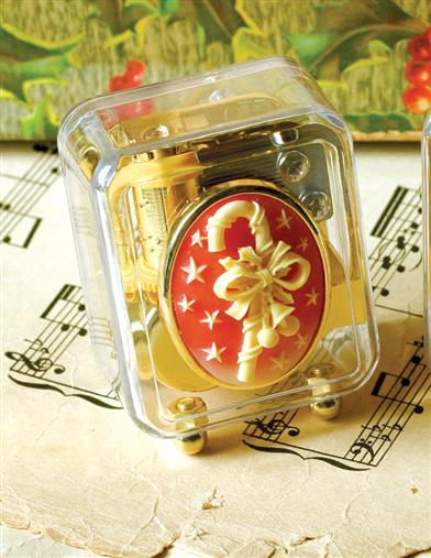 Christmas Cameo Music Box (Candy Cane)