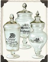 Holiday Apothecary Jars (Set Of 3)