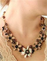 Colleen Toland Velvet Zinnia Necklace