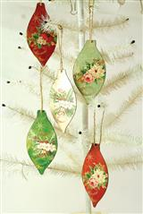 Christmas Botanical Ornaments (Set Of 5)