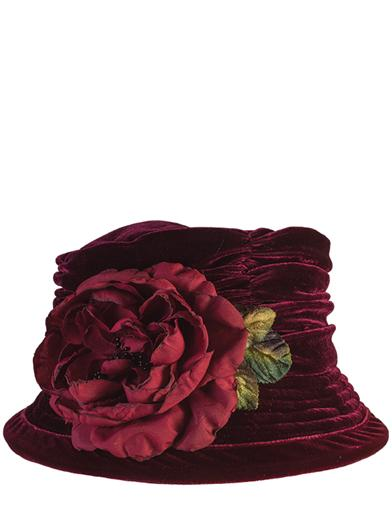 Edwardian Style Hats, Titanic Hats, Derby Hats Crushable Velvet Merlot Hat $49.95 AT vintagedancer.com
