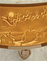 Santas Sleigh Lithophane Nightlight