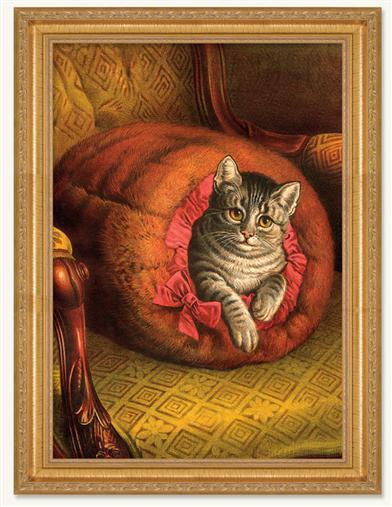 Cozy Framed Print (Gold)