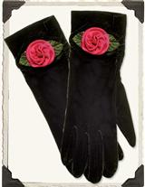 Silk Roses Velvet Gloves