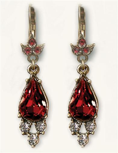 Rialto Garnet Drop Earrings