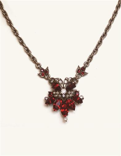 Rialto Garnet Drop Necklace