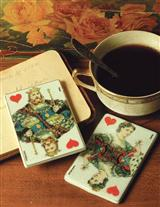 King & Queen Of Hearts Porcelain Playing Cards